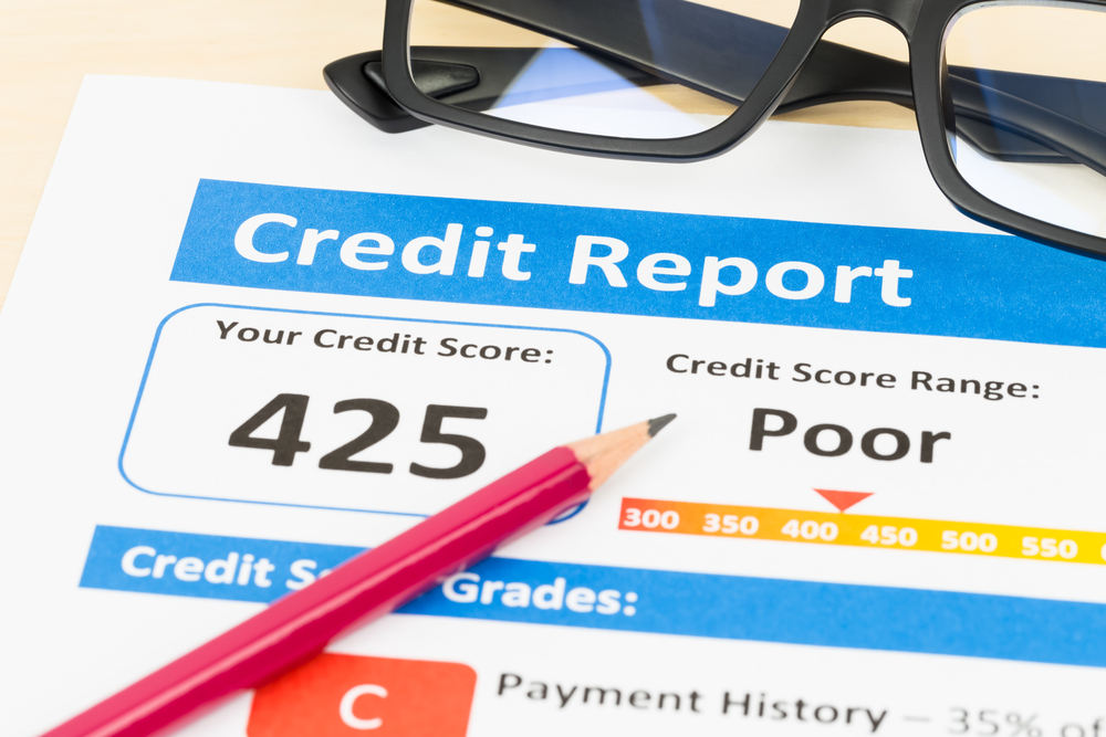 Credit Report Score of 425