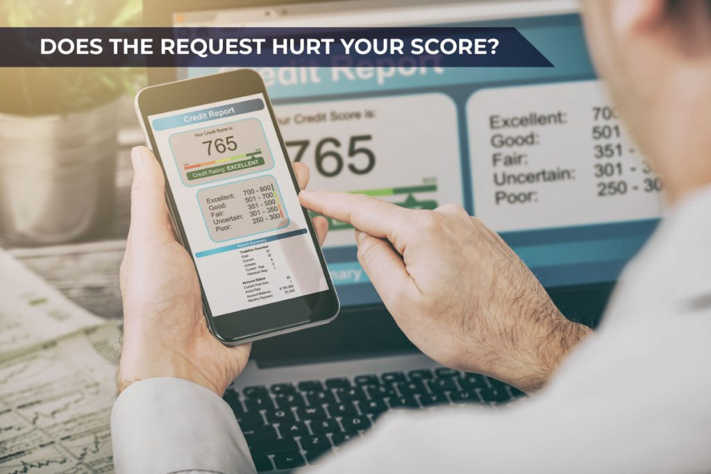 does the request for a credit limit increase hurt your score?