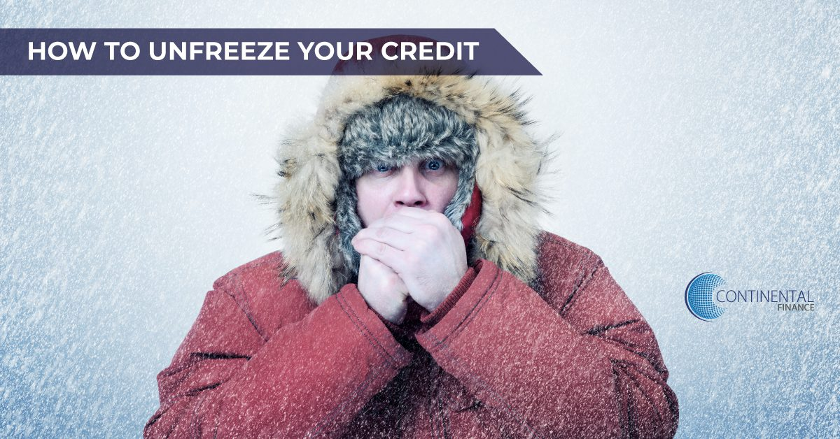 How to Unfreeze Your Credit