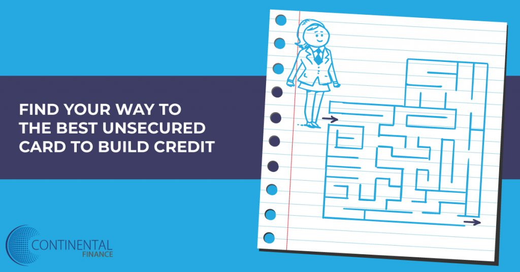 find your way to the best unsecured card to build credit