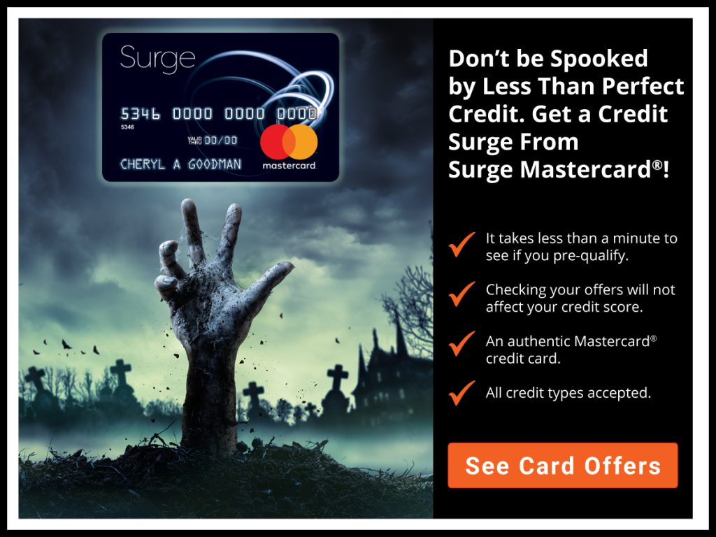 Don't be spooked by less than perfect credit. See card offers.