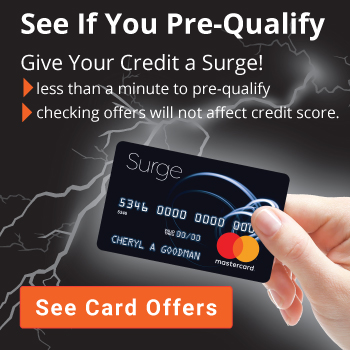 See if you pre-qualify for a Surge Mastercard